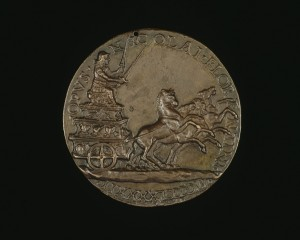 Niccolò Fiorentino<br /><i>Alfonso (?) in a Triumphal Car</i>, 1492<br />Bronze, diameter 7.1 cm (2 13/16 in.)<br />National Gallery of Art, Washington, DC, Samuel H. Kress Collection<br />Image courtesy of the Board of Trustees, National Gallery of Art