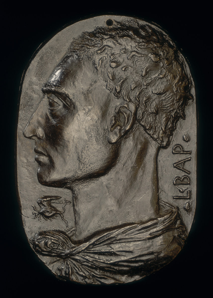 Leon Battista Alberti<br /><em>Self-Portrait</em>, c. 1435<br />Bronze, 20.1 x 13.6 cm (7 15/16 x 5 5/168 in.)<br />National Gallery of Art, Washington, DC, Samuel H. Kress Collection<br />Image courtesy of the Board of Trustees, National Gallery of Art