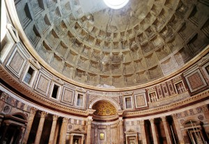 <i>The Pantheon</i>, c. 126 CE<br />Rome<br />Photographer: Nicolas Mailfait, uploaded to French Wikipedia August 2004