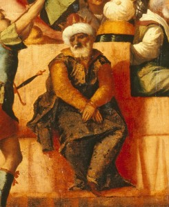 Jacapo Palma il Vecchio<br /><i>The Triumph of Caesar (detail of Ottoman captive)</i>, c. 1510<br />Oil on wood<br />Lowe Art Museum, University of Miami, Gift of the Samuel H. Kress Collection