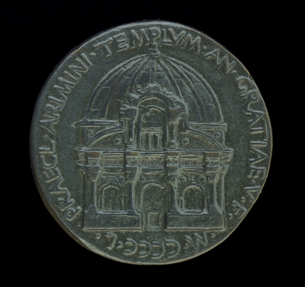 After Matteo de' Pasti<br /><i>Medal of Sigismondo Pandolfo Malatesta San Francesco at Rimini</i> [reverse], 1450<br />Bronze, diameter 4 cm (1 9/16 in.)<br />National Gallery of Art, Washington, DC, Samuel H. Kress Collection<br />Image courtesy of the Board of Trustees, National Gallery of Art