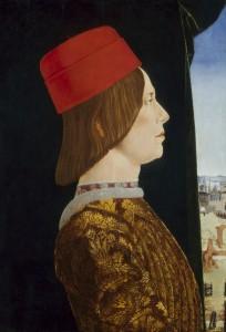 Ercole de' Roberti <br /><i>Giovanni II Bentivoglio</i>, c. 1474/77<br /><br />Tempera on panel, 54 x 38.1 cm (21 1/4 x 15 in.) <br /><br />National Gallery of Art, Washington, DC, Samuel H. Kress Collection<br />Image courtesy of the Board of Trustees, National Gallery of Art