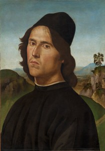 Perugino<br /><i>Portrait of Lorenzo di Credi</i>, 1488<br />Oil on panel transferred to canvas, 44 x 30.5 cm (17 5/16 x 12 in.)<br />National Gallery of Art, Washington, DC, Widener Collection<br />Image courtesy of the Board of Trustees, National Gallery of Art