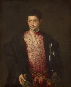 Titian<br /><i>Ranuccio Farnese</i>, 1542<br />Oil on canvas, 89.7 x 73.6 cm (35 5/16 x 29 in.)<br />National Gallery of Art, Washington, DC, Samuel H. Kress Collection<br />Image courtesy of the Board of Trustees, National Gallery of Art
