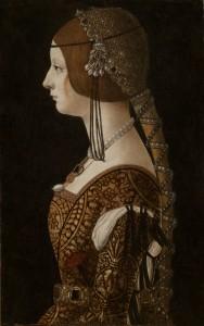 Ambrogio de Predis Bianca Maria Sforza, probably 1493 Oil on panel, 51 x 32.5 cm (20 1/16 x 12 13/16 in.)  National Gallery of Art, Washington, DC, Widener Collection Image courtesy of the Board of Trustees, National Gallery of Art