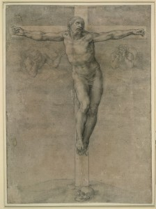 Michelangelo Christ on the Cross, 1536–41 Drawing in black chalk, 36.8 x 26.8 cm (14 1/2 x 10 5/8 in.) British Museum, London © Trustees of the British Museum