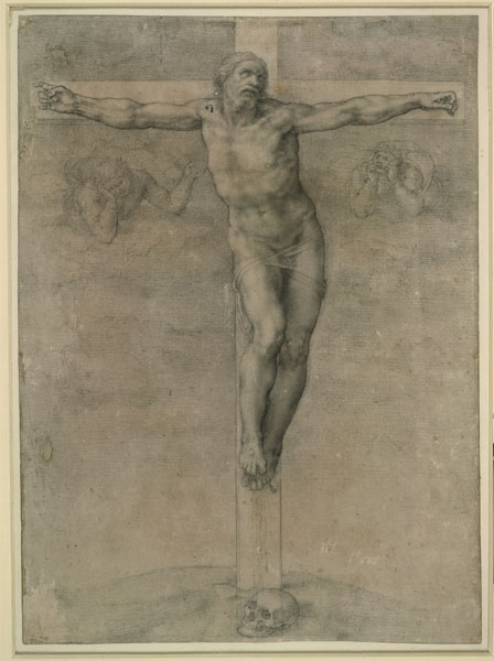 Michelangelo<br /><i>Christ on the Cross</i>, 1536–41<br />Drawing in black chalk, 36.8 x 26.8 cm (14 1/2 x 10 5/8 in.)<br />British Museum, London<br />© Trustees of the British Museum