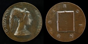 Matteo de' Pasti<br /><i>Isotta degli Atti, Mistress, then Wife of Sigismondo Malatesta</i> [obverse]; <i>Closed Book</i> [reverse], 1446<br />Bronze, diameter 8.4 cm (3 5/16 in.)<br />National Gallery of Art, Washington, DC, Samuel H. Kress Collection<br />Image courtesy of the Board of Trustees, National Gallery of Art