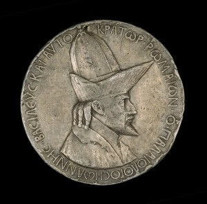 Pisanello John VIII Palaeologus (1392–1448), Emperor of Constantinople (1425) [obverse], 1438 Lead, trial cast, diameter 10.38 cm (4 1/16 in.)  National Gallery of Art, Washington, DC, Samuel H. Kress Collection Image courtesy of the Board of Trustees, National Gallery of Art