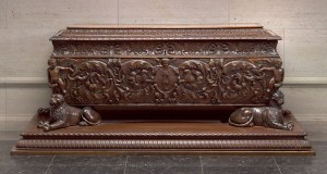 Florentine, first half of 16th century Cassone made for Strozzi family  Walnut and poplar, 191.5 x 64.2 x 69.7 cm (75 3/8 x 25 1/4 x 27 7/16 in.) National Gallery of Art, Washington, DC, Widener Collection Image courtesy of the Board of Trustees, National Gallery of Art