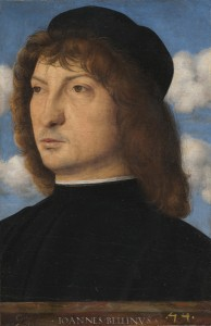 Giovanni Bellini<br /><i>Portrait of a Venetian Gentleman</i>, c. 1500<br />Oil on panel transferred to panel, 29.69 x 20 cm (11 11/16 x 7 7/8 in.)<br />National Gallery of Art, Washington, DC, Samuel H. Kress Collection<br />Image courtesy of the Board of Trustees, National Gallery of Art