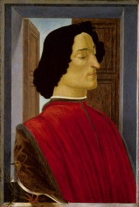 Sandro Botticelli<br /><i>Giuliano de' Medici</i>, c. 1478/80<br />Tempera on panel, 75.5 x 52.5 cm (29 3/4 x 20 11/16 in.)<br />National Gallery of Art, Washington, DC, Samuel H. Kress Collection<br />Image courtesy of the Board of Trustees, National Gallery of Art