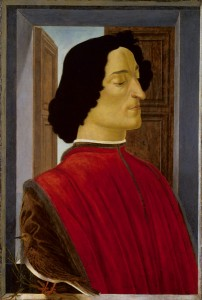 Sandro Botticelli Giuliano de' Medici, c. 1478/80 Tempera on panel, 75.5 x 52.5 cm (29 3/4 x 20 11/16 in.) National Gallery of Art, Washington, DC, Samuel H. Kress Collection Image courtesy of the Board of Trustees, National Gallery of Art