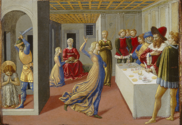 Benozzo Gozzoli The Feast of Herod and the Beheading of Saint John the Baptist, 1461–2 Tempera (?) on panel, 23.8 x 34.5 cm (9 3/8 x 13 9/16 in.) National Gallery of Art, Washington, DC, Samuel H. Kress Collection Image courtesy of the Board of Trustees, National Gallery of Art