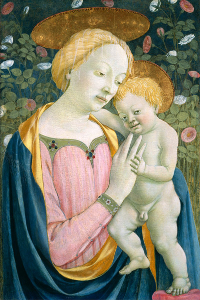 Domenico Veneziano<br /><i>Madonna and Child</i>, c. 1445/50<br />Tempera (and oil?) on panel, 83 x 57 cm (32 11/16 x 22 7/16 in.)<br />National Gallery of Art, Washington, DC, Samuel H. Kress Collection<br />Image courtesy of the Board of Trustees, National Gallery of Art