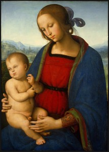 Perugino Madonna and Child, c. 1500 Oil on panel, 70.2 x 50 cm (27 5/8 x 19 11/16 in.)  National Gallery of Art, Washington, DC, Samuel H. Kress Collection Image courtesy of the Board of Trustees, National Gallery of Art