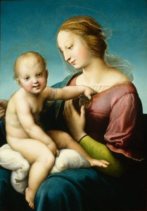 Raphael<br /><i>The Niccolini-Cowper Madonna</i>, 1508<br />Oil on panel, 80.7 x 57.5 cm (31 3/4 x 22 5/8 in.)<br />National Gallery of Art, Washington, DC, Andrew W. Mellon Collection<br />Image courtesy of the Board of Trustees, National Gallery of Art