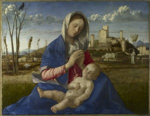 Giovanni Bellini Madonna of the Meadow, c. 1500 Oil and tempera on synthetic panel, transferred from wood, 67.3 x 86.4 cm (26 1/2 x 34 in.) The National Gallery, London © National Gallery, London/Art Resource, NY