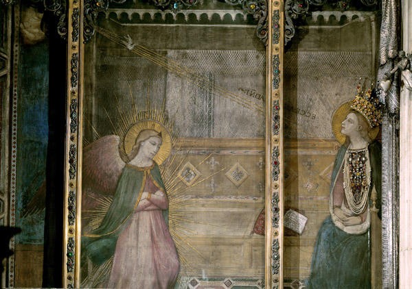 <i>The Annunciation</i>, mid-14th century<br />Fresco<br />Santissima Annunziata, Florence<br />Scala/Art Resource, NY