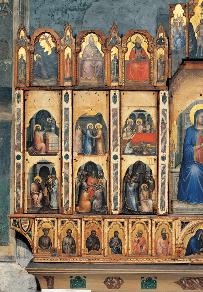Giusto de' Menabuoi<br /><i>Polyptych</i>, detail of the lives of holy figures, 1360–62<br />Tempera on panel<br />Baptistery, Padua, Italy<br />Photoservice Electa/Marco Ravenna/Art Resource, NY