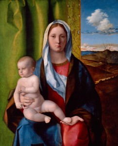 Giovanni Bellini<br /><i>Madonna and Child</i>, c. 1510<br />Oil on panel, 68.9 x 73 cm (27 1/8 x 28 3/4 in.)<br />High Museum of Art, Atlanta, Gift of the Samuel H. Kress Foundation, 58.33
