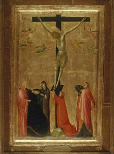 Tuscan School<br /><i>The Crucifixion</i>, c. 1330–50<br />Tempera on wood, 62.9 x 43.2 cm (24 3/4 x 17 in.)<br />Lowe Art Museum, University of Miami, Gift of the Samuel H. Kress Foundation