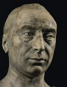 Attributed to Antonio Rossellino<br /><i>Bust of Francesco Sassetti</i>, 1464–5<br />Marble<br />Museo Nazionale di Bargello, Florence<br />Erich Lessing/Art Resource, NY