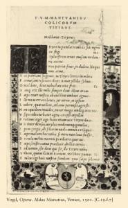 Page from Virgil, Opera Printed by Aldus Manutius, Venice, April 1501 Printed typeset Bibliothèque nationale de France, Paris, Rés. p. Yc. 1265 The Art Archive at Art Resource, NY