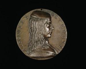 Niccolò Fiorentino Alfonso I d'Este (1476–1534), 3rd Duke of Ferrara, Modena and Reggio (1505) [obverse], 1492 Bronze, diameter 7.1 cm (2 13/16 in.)