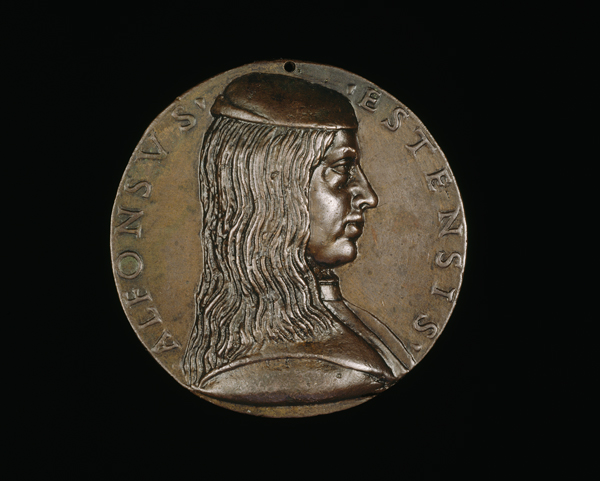 Niccolò Fiorentino<br /><i>Alfonso I d'Este (1476–1534), 3rd Duke of Ferrara, Modena and Reggio (1505)</i> [obverse], 1492<br />Bronze, diameter 7.1 cm (2 13/16 in.)<br />National Gallery of Art, Washington, DC, Samuel H. Kress Collection<br />Image courtesy of the Board of Trustees, National Gallery of Art