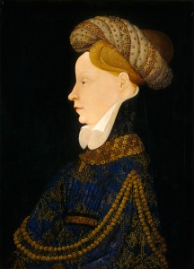 Franco-Flemish, 15th century   Profile Portrait of a Lady, c. 1410 Oil on panel, 53 x 37.6 cm (20 7/8 x 14 13/16 in.) National Gallery of Art, Washington, DC, Andrew W. Mellon Collection Image courtesy of the Board of Trustees, National Gallery of Art