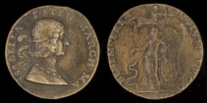 Gian Cristoforo Romano<br /><i>Isabella d'Este, (1474–1539), Wife (1490) of Francesco Il Gonzaga of Mantua</i> [obverse], 1507<br />Bronze, diameter 3.9 cm (1 9/16 in.)<br />National Gallery of Art, Washington, DC, Samuel H. Kress Collection<br />Image courtesy of the Board of Trustees, National Gallery of Art<br />Image courtesy of the Board of Trustees, National Gallery of Art
