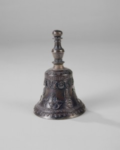 Giovanni Alberghetti<br />A table bell with portrait of Ludovico Maria Sforza, Il Moro, possibly c. 1494/99<br />Bronze, h. 15.2 cm; diameter 9.9 cm (6 in.; 3 7/8 in.)<br />National Gallery of Art, Washington, DC, Samuel H. Kress Collection<br />Image courtesy of the Board of Trustees, National Gallery of Art