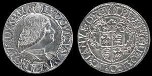 Milanese, late 15th century Ludovico Maria Sforza, called Il Moro (1451–1508), 7th Duke of Milan (1494–1500) [obverse]; Crowned Shield [reverse]  Bronze, 2.6 x 2.1 cm (1 x 13/16 in.) National Gallery of Art, Washington, DC, Samuel H. Kress Collection Image courtesy of the Board of Trustees, National Gallery of Art