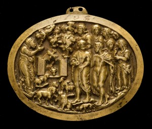 Florentine, mid-15th century Noah Entering the Ark Bronze/yellow-gold patina, 4.3 x 5.6 cm (1 11/16 x 2 3/16 in.) National Gallery of Art, Washington, DC, Samuel H. Kress Collection  Image courtesy of the Board of Trustees, National Gallery of Art