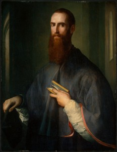 Pontormo<br /><i>Monsignor della Casa</i>, probably 1541/44<br />Oil on panel, 102 x 78.9 cm (40 3/16 x 31 1/16 in.)<br />National Gallery of Art, Washington, DC, Samuel H. Kress Collection<br />Image courtesy of the Board of Trustees, National Gallery of Art