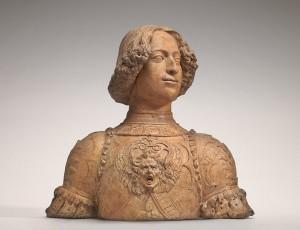 Attributed to Andrea del Verrocchio<br /><i>Giuliano de' Medici</i>, c. 1475<br />Terracotta, 61 x 66 x 28.3 cm (24 x 26 x 11 1/8 in.)<br />National Gallery of Art, Washington, DC, Andrew W. Mellon Collection<br />Image courtesy of the Board of Trustees, National Gallery of Art
