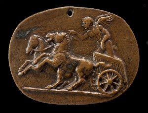 "Plaquette depicting the ""Cupid Driving a Chariot,"" 15th century<br />Bronze, 5.7 x 7.6 cm (2 1/4 x 3 in.)<br />National Gallery of Art, Washington, DC, Samuel H. Kress Collection<br />Image courtesy of the Board of Trustees, National Gallery of Art"