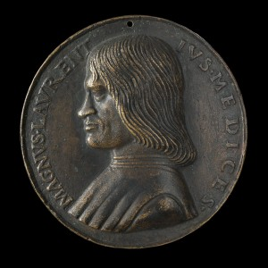 Niccolò Fiorentino<br /><i>Lorenzo de' Medici, il Magnifico (1449–92)</i>, date unknown<br />Bronze/late cast, hollow, diameter 9 cm (3 9/16 in.)<br />National Gallery of Art, Washington, DC, Samuel H. Kress Collection<br />Image courtesy of the Board of Trustees, National Gallery of Art
