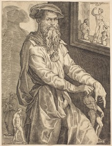 Niccolò della Casa Portrait of Bandinelli, c. 1540–5 Engraving, 29.2 x 22 cm (11 1/2 x 8 11/16 in.) National Gallery of Art, Washington, DC, Ailsa Mellon Bruce Fund Image courtesy of the Board of Trustees, National Gallery of Art