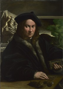 Parmigianino Portrait of a Man, probably before 1524  Oil on wood, 89.5 x 63.8 cm (35.2 x 25.1 in.) The National Gallery, London © National Gallery, London/Art Resource, NY
