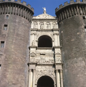 Triumphal arch of Alfonso of Aragon, 1453–8 and 1465–7 Marble Castel Nuovo, Naples Bridgeman-Giraudon/Art Resource, NY