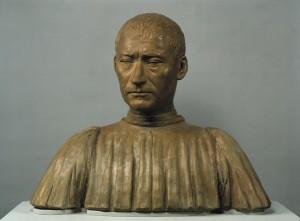 Benedetto da Maiano<br /><i>Filippo Strozzi, Italian Banker</i>, c. 1475<br />Terracotta bust, 46 x 56 x 22.5 cm (18 1/10 x 22 x 8 9/10 in.)<br />bpk, Berlin/Skulpturensammlung und Museum für Byzantinische Kunst, Staatliche Museum/Joerg P. Anders/Art Resource, NY