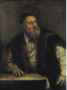 Titian<br /><i>Self-portrait</i>, c. 1560<br />Oil on canvas, 96 x 75 cm (37.8 x 29.5 in.)<br />bpk, Berlin/Gemäldegalerie, Staatliche Museen, Berlin, Germany/Joerg P. Anders/Art Resource, NY