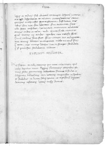 Page from Cicero's <i>Oration</i>, 1417<br />Paper, 21.6 x 15.2 cm (8 1/2 in. x 6 in.)<br />Vatican Library, Vatican State, Vat. lat. 11458, fol. 94 recto
