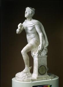 Antonio Minello  Mercury, 1527 Carved marble inlaid with bronze, 77.5 x 26.5 x 44 cm (30 1/2 x 10 2/5 x 17 3/10 in.) Victoria and Albert Museum, London