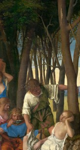 Giovanni Bellini and Titian The Feast of the Gods (detail of Bellini's tree trunks), 1514/29 Oil on canvas National Gallery of Art, Washington, DC, Widener Collection Image courtesy of the Board of Trustees, National Gallery of Art
