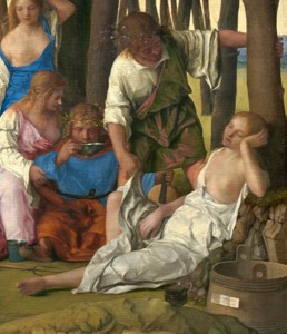 Giovanni Bellini and Titian The Feast of the Gods (detail of Lotis and Priapus), 1514/29 Oil on canvas National Gallery of Art, Washington, DC, Widener Collection Image courtesy of the Board of Trustees, National Gallery of Art