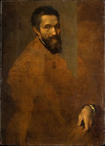Daniele da Volterra<br /><i>Portrait of Michelangelo</i>, c. 1545<br />Oil on panel, 88.3 x 64.1 cm (34 3/4 x 25 1/4 in.)<br />The Metropolitan Museum of Art, New York<br />Image © The Metropolitan Museum of Art, New York, NY