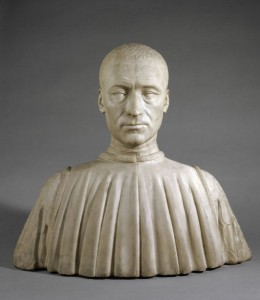 Benedetto da Maiano<br /><i>Bust of Filippo Strozzi (1426–91)</i>, c. 1476<br />Marble<br />Louvre, Paris, France<br />Réunion des Musées Nationaux/Art Resource, NY